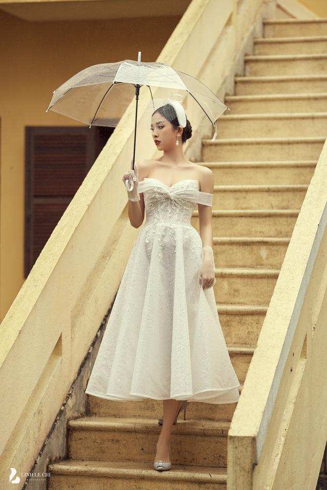 Á hậu Thuý An tung ảnh cưới lung linh trước thềm hôn lễ: Nhan sắc cô dâu đỉnh của chóp, e ấp bên chú rể hơn 12 tuổi! - ảnh 3