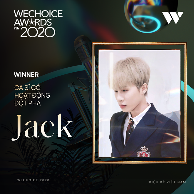 Jack vượt mặt Sơn Tùng M-TP, giành giải thưởng Ca sĩ có hoạt động đột phá tại WeChoice Awards 2020 - ảnh 1