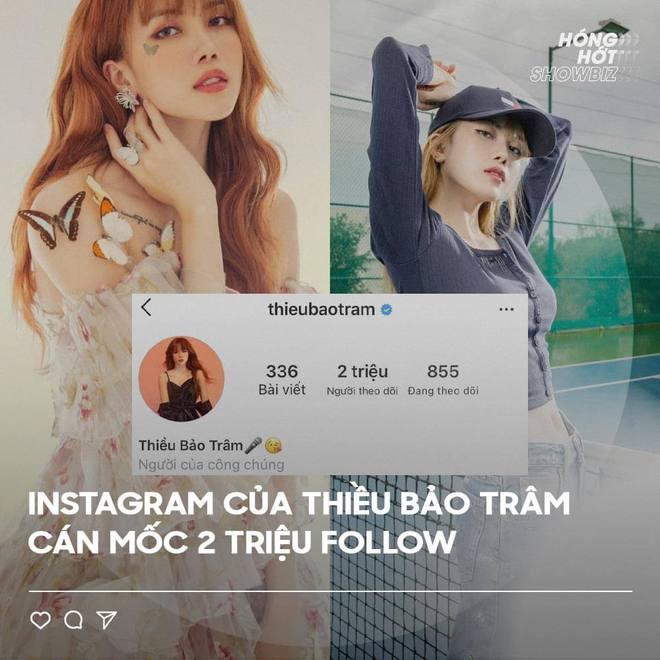 Instagram Thiều Bảo Trâm cán mốc 2 triệu người theo dõi chỉ sau 3 ngày ồn ào liên quan đến trà xanh - ảnh 1