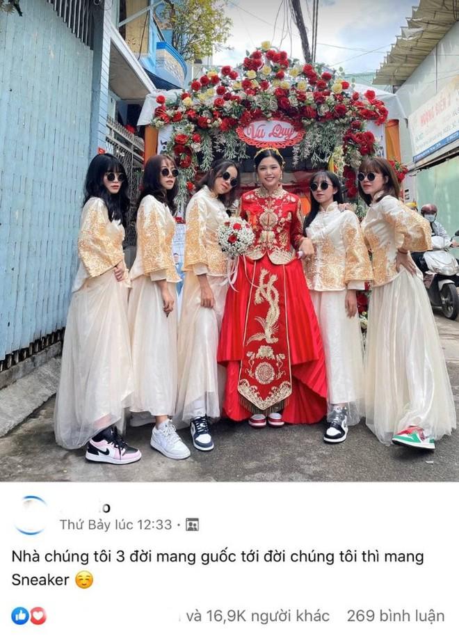 Lác mắt trước hội nhà gái theo hệ sneaker, toàn Air Jordan xịn sò trong đám cưới của cô dâu gốc Hoa - ảnh 7