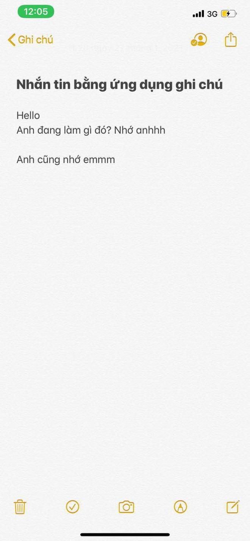 """Cảnh báo: """"trà xanh"""" không chỉ nhắn tin qua Zalo hay Messenger, mà cao tay hơn chính là """"chat chít"""" ngay trên """"Ghi chú"""" của iPhone - Ảnh 4."""
