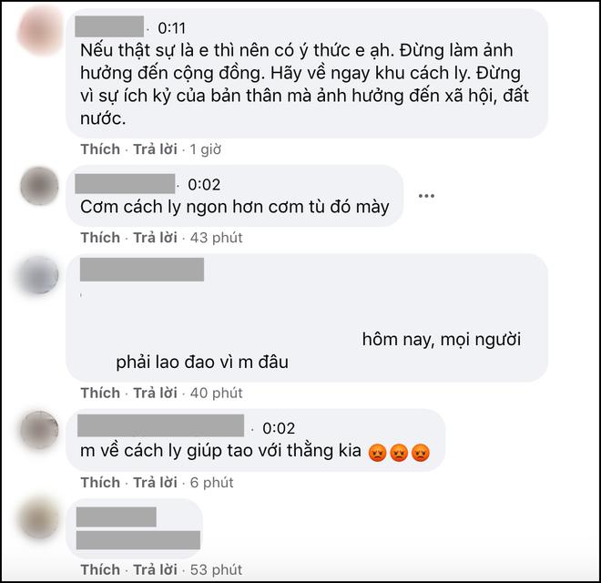 CĐM tìm ra Facebook của nam thanh niên trốn cách ly đi thăm người yêu, ùa vào mắng chửi và yêu cầu quay lại bệnh viện - Ảnh 2.