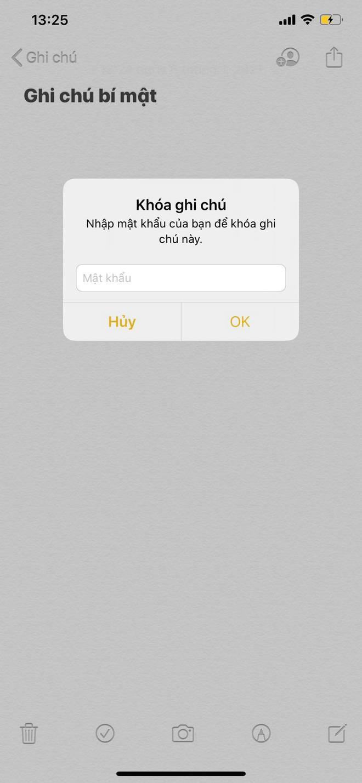 Cách khoá Notes, giấu thông tin nhạy cảm trên iPhone - Ảnh 4.