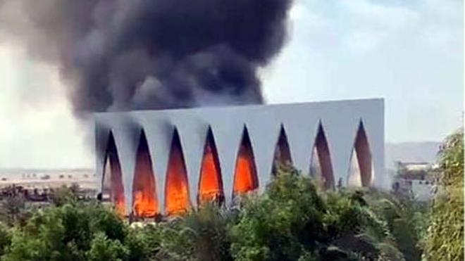 Cháy lớn tại Liên hoan phim El Gouna (Ai Cập) - ảnh 1