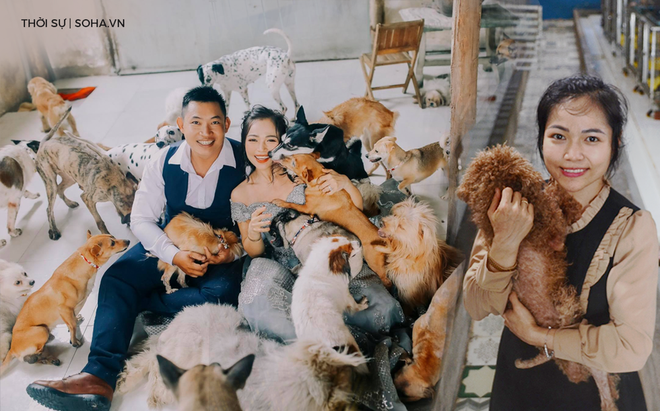 Cặp vợ chồng cưu mang 100 con chó, mèo bị chủ F0 bỏ rơi mùa dịch: Chúng tôi không sinh con để chu toàn cho tụi nhỏ - ảnh 1