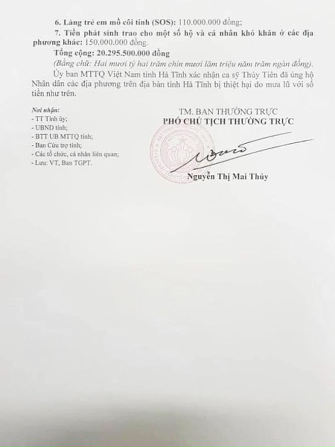 Chính quyền Hà Tĩnh xác nhận đã nhận hơn 40 tỷ đồng từ tiền Thuỷ Tiên quyên góp, so với sao kê liệu có trùng khớp? - Ảnh 3.