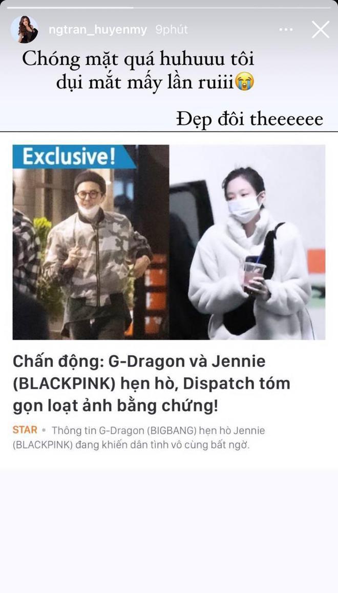 """Sao Vbiz rần rần vì tin G-Dragon (BIGBANG) hẹn hò: Huyền My - Tóc Tiên """"xỉu ngang xỉu dọc"""", Diệu Nhi được gọi tên vì lý do này? - ảnh 1"""