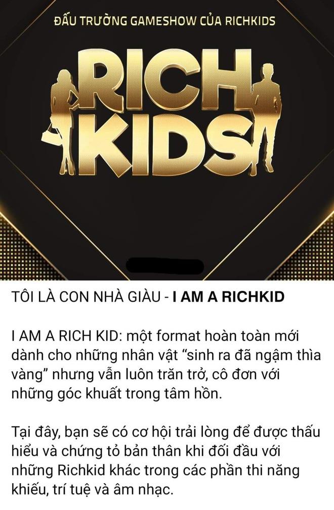 Xuất hiện gameshow về Rich Kids Việt: Tưởng so độ giàu nhưng thực tế lại hoàn toàn khác! - ảnh 1