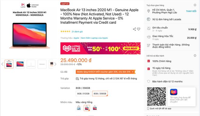 Mua MacBook trên các sàn thương mại điện tử, khuyến mãi giảm nhiều nhưng có rẻ hơn tại các cửa hàng bán lẻ? - ảnh 3