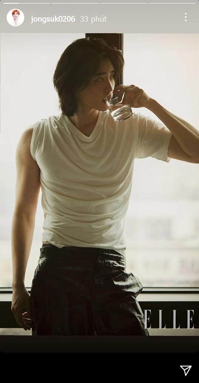 Lee Jong Suk tóc dài lãng tử quá, khoe visual mong manh đến siêu thực làm fangirl bị quật cực mạnh - ảnh 1