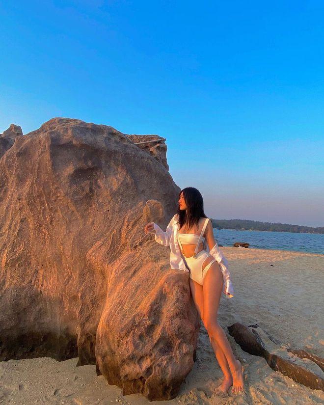 Linh Sugar chặt chém đường đua bikini, chị đẹp Meo Meo cũng phải thốt lên: Thiên thần! - ảnh 1