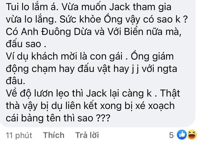 Fan lo lắng Jack không đủ thể lực và... độ 'lươn' nếu tham gia Running Man Vietnam 004