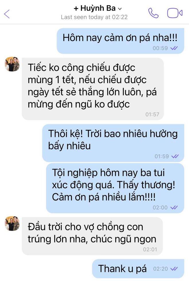 Trấn Thành chia sẻ xúc động về ba sau khi chiếu Bố Già, con dâu Hari Won cũng khoe ngay tin nhắn riêng với bố chồng dài như sớ - ảnh 2