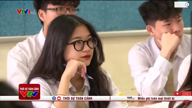 Nữ sinh xuất hiện vài giây ở bản tin thời sự, netizen ngắm xong rần rần đòi tăng lương cho anh quay phim của VTV - ảnh 1