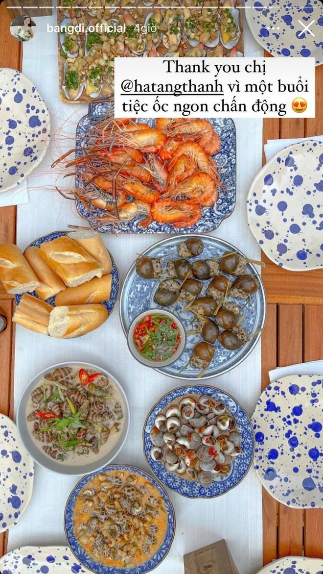 Tiệc cuối tuần giới nhà giàu: Hà Tăng nấu cả bàn ốc như nhà hàng, Băng Di - Linh Rin đến Hoa hậu trái đất thi nhau xuýt xoa - ảnh 7