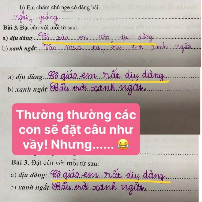 Học trò lớp 1 trổ tài làm bài tập tiếng Việt siêu lầy, đến giáo viên cũng phải thốt lên: Cười tắc thở mất! Đi dạy như tấu hài - ảnh 4