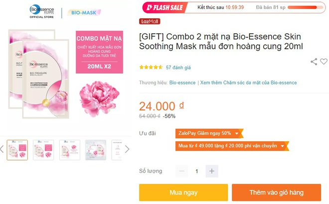 Deal mỹ phẩm hot nhất hôm nay trên Shopee, Lazada, Tiki: Set skincare sale 50%, mặt nạ mua 1 tặng 1 - ảnh 8