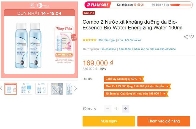 Deal mỹ phẩm hot nhất hôm nay trên Shopee, Lazada, Tiki: Set skincare sale 50%, mặt nạ mua 1 tặng 1 - ảnh 10