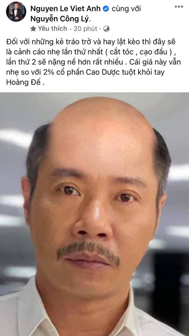 Việt Anh đùa dai tung ảnh ông Vụ (NS Công Lý) bị cạo trọc đầu để giải quyết ân oán trên phim, chính chủ phản ứng cực gắt! - ảnh 1