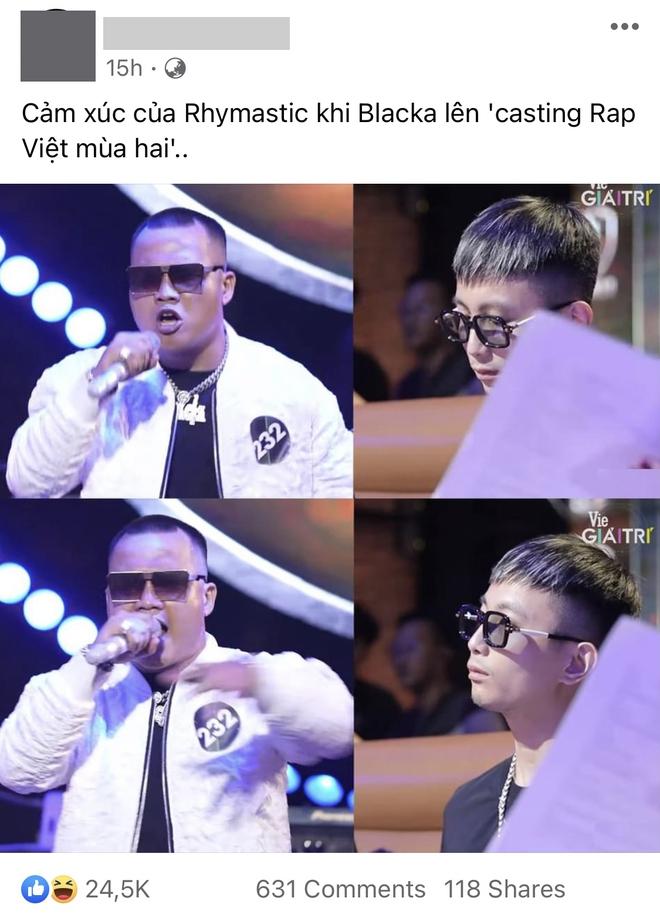 Biểu cảm của Rhymastic khi xem Blacka cast Rap Việt mùa 2 khiến netizen thích thú! - ảnh 1