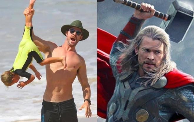 Thái cực đối lập của 2 thánh cơ bắp Hollywood khi chăm con: The Rock hóa bánh bèo, Thor lại cục súc dốc ngược cả con - ảnh 10