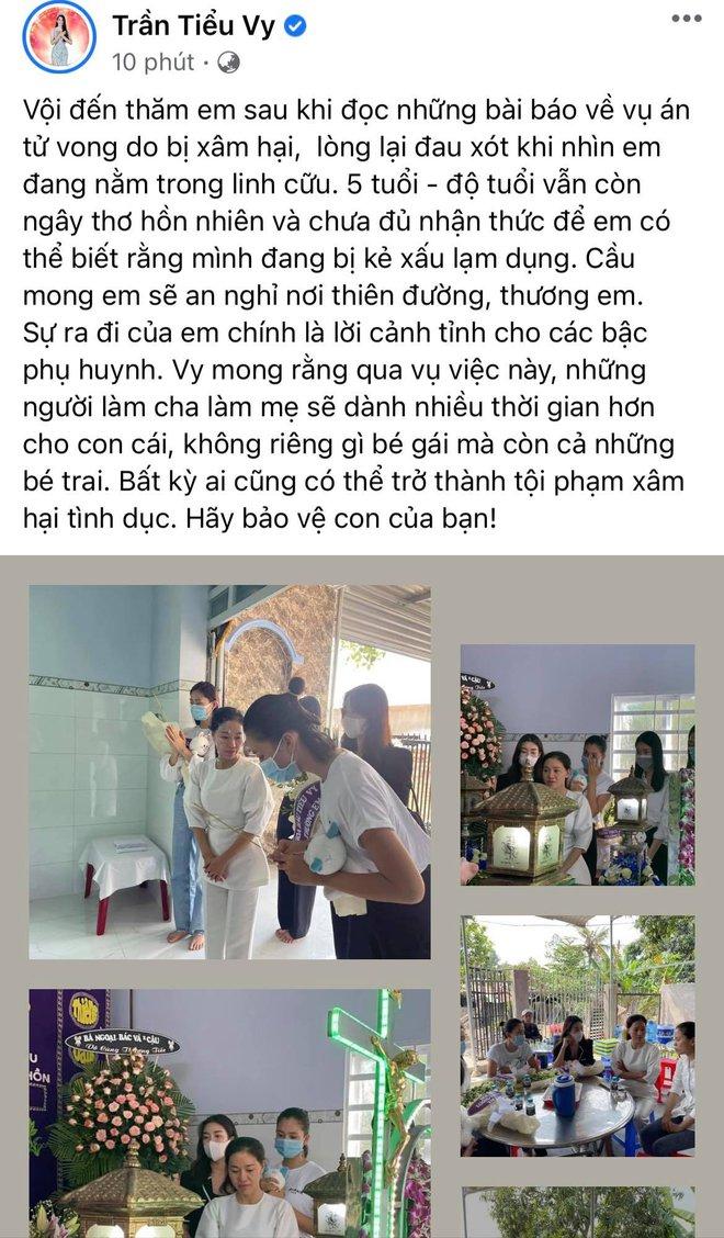 Đỗ Mỹ Linh, Tiểu Vy xót xa đến viếng bé gái 5 tuổi bị sát hại, hiếp dâm, Phương Anh tức giận gửi lời đến kẻ xấu - ảnh 5