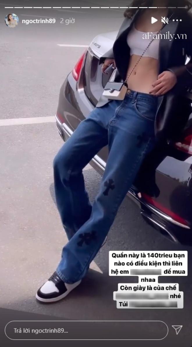 Ngọc Trinh khoe chiếc quần jeans 140 triệu đồng nhưng là đắt thật hay nổ giá câu view? - ảnh 3