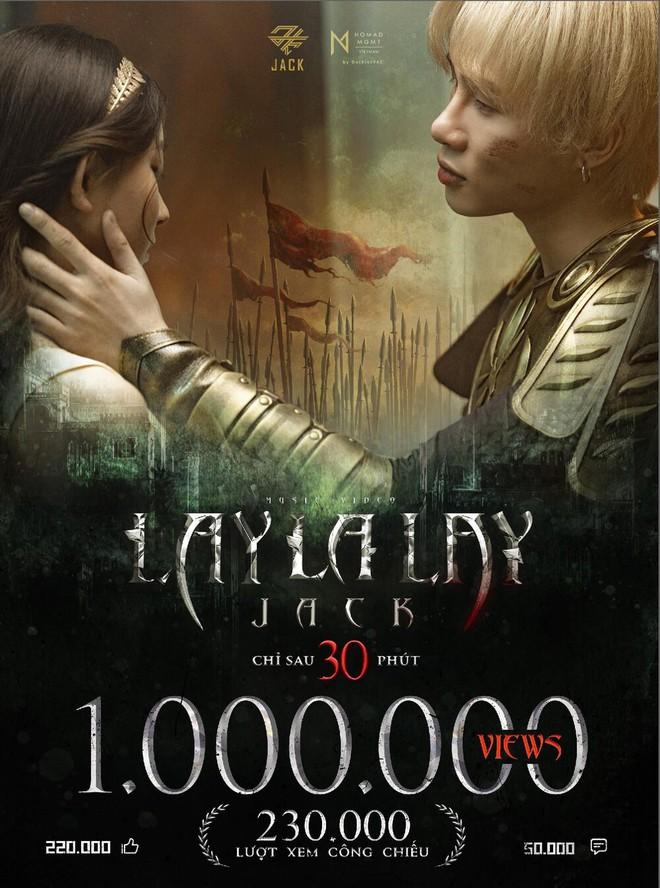 LAYLALAY của Jack giữ vững top 1 trending 8 ngày liên tiếp, vượt qua ngôi vương của Sơn Tùng M-TP? - ảnh 1
