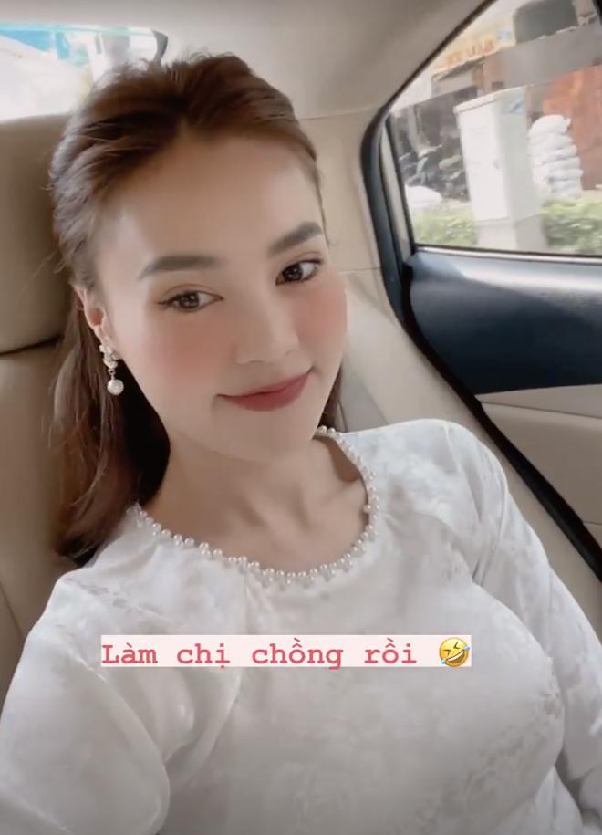 Diện áo dài dự đám cưới em trai, Lan Ngọc khiến netizen ngẩn ngơ vì nhan sắc xinh đẹp, sợ chiếm luôn spotlight của nhân vật chính - ảnh 1