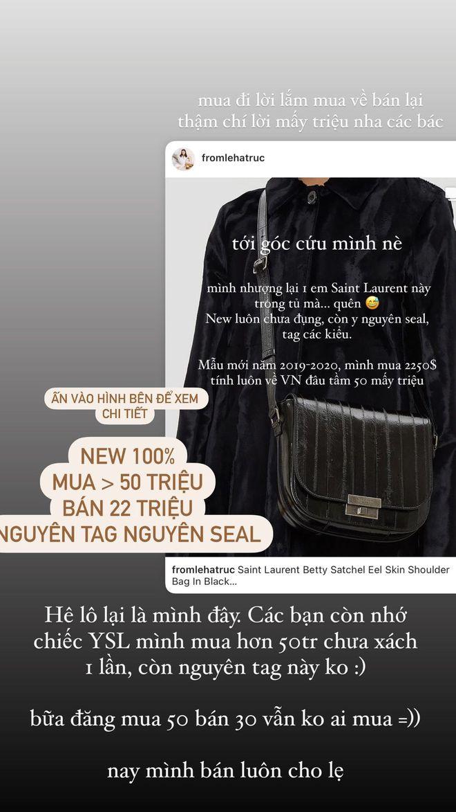 Thương Hà Trúc: Thanh lý lỗ 1/2 chiếc túi Saint Laurent mà vẫn ế sưng, vậy mới thấy pass đồ đâu dễ - ảnh 2