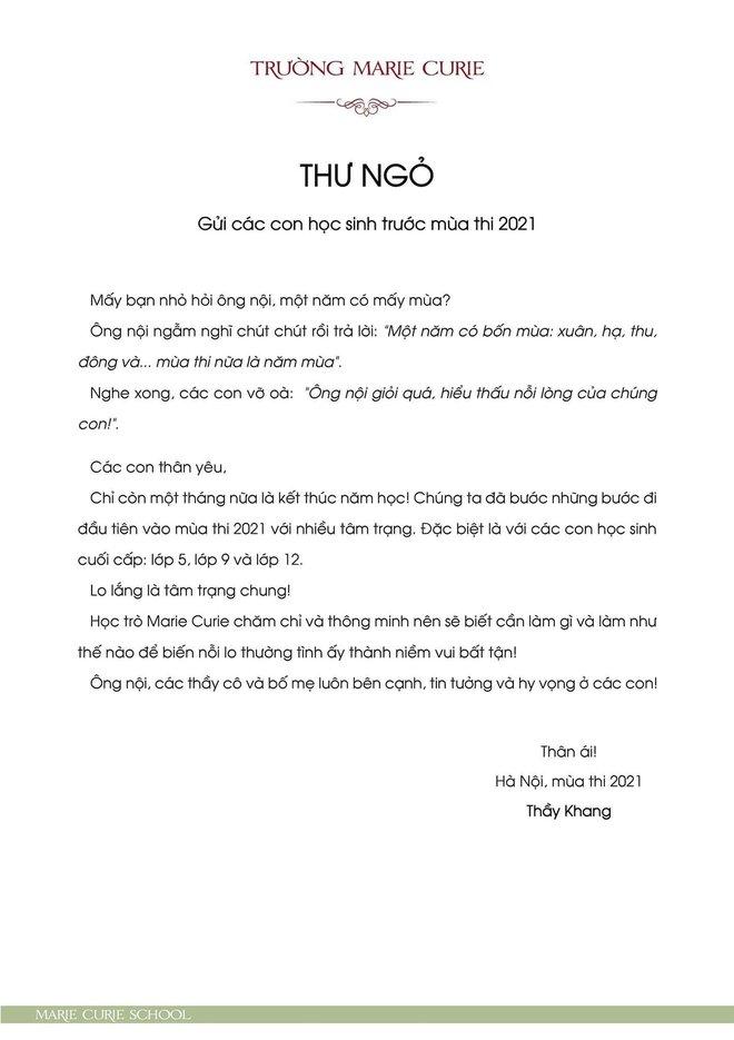 Hiệu trưởng gửi thư trước mùa thi, ông bố gây bão khi kể tiếp chuyện toilet và bảng điểm 0-1 của học sinh Hà Nội - ảnh 2