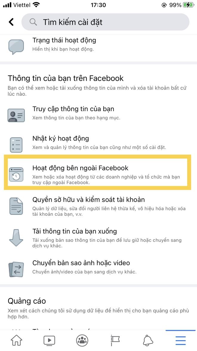 Làm gì, search gì cũng bị Facebook biết rõ, đây là cách chặn theo dõi từ nền tảng này! - Ảnh 2.