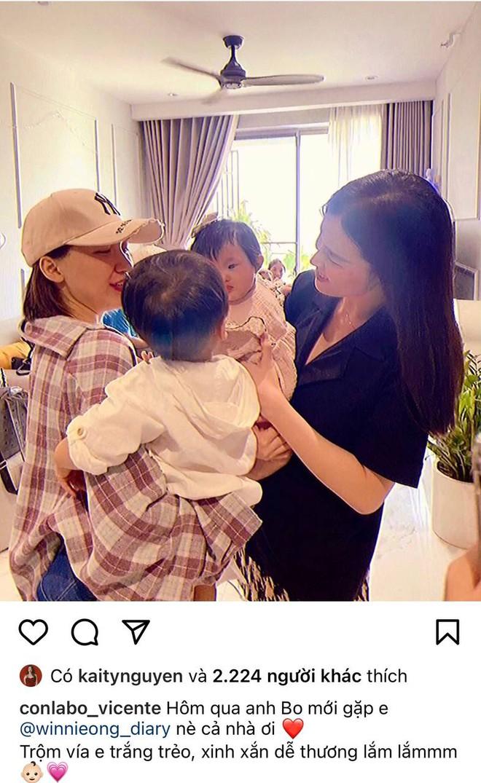 2 nhóc tỳ hot nhất Vbiz hội ngộ: Con gái Đông Nhi nhìn chằm chằm anh Bo, Hoà Minzy có lời khen đặc biệt cho Winnie - ảnh 1