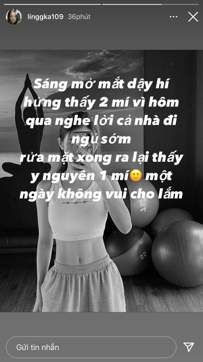 Linh Ka than thở chuyện đột nhiên mắt còn một mí, netizen bỏ ngoài tai vì mải ngắm vòng 2 siêu thực của gái xinh - ảnh 1
