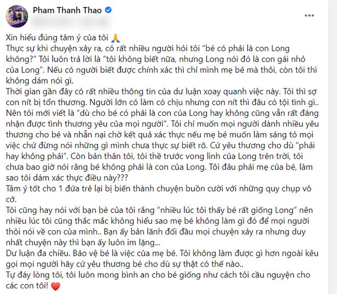 Phạm Thanh Thảo lên tiếng nói rõ chuyện nghi ngờ huyết thống con của cố NS Vân Quang Long, vẫn băn khoăn 1 điểm về Linh Lan - Ảnh 2.