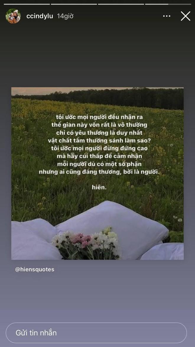 Sau khi công khai hẹn hò Đạt G, Cindy Lư đăng status khẳng định yêu thương là duy nhất, vật chất tầm thường sánh làm sao - ảnh 2