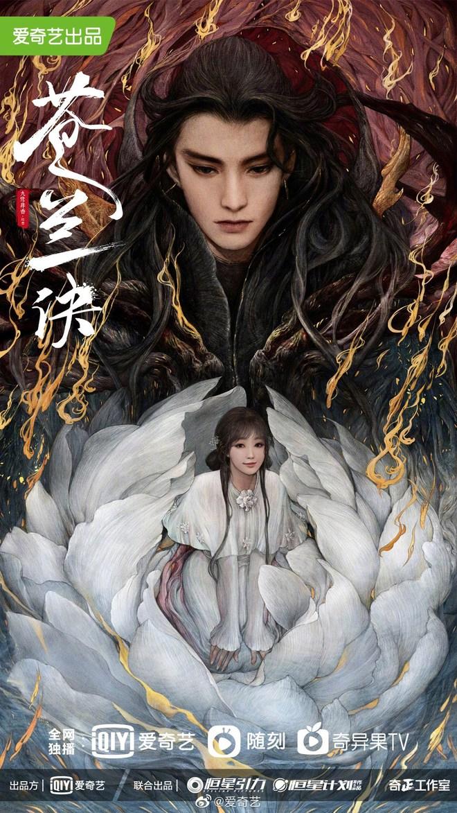 Thương Lan Quyết tung poster tranh vẽ tuyệt đẹp, fan vẫn ấm ức vì Vương Hạc Đệ không để tóc trắng - ảnh 1