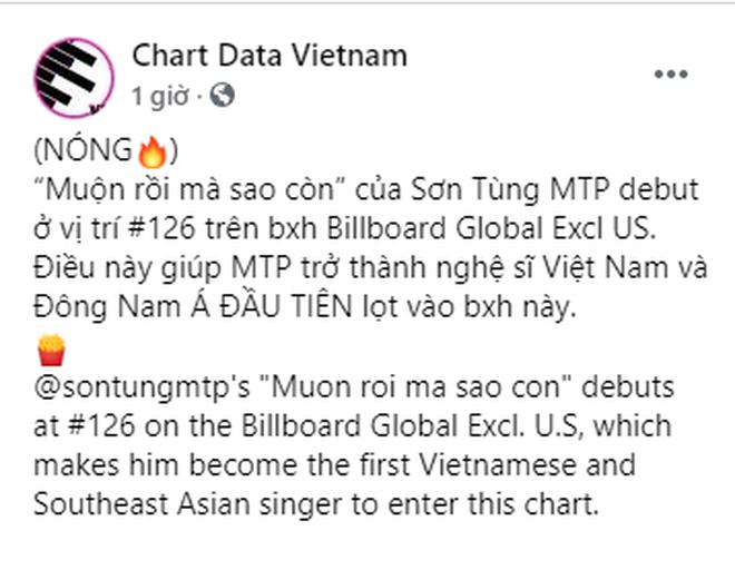 Ấn tượng: Sơn Tùng M-TP lọt vào BXH Billboard Global toàn cầu, là nghệ sĩ Việt Nam đầu tiên làm được điều này! - ảnh 4