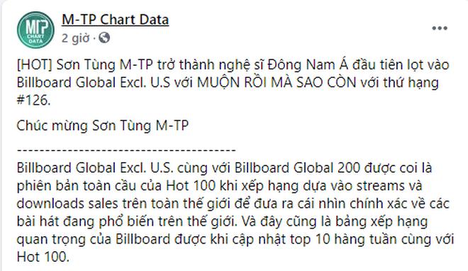 Ấn tượng: Sơn Tùng M-TP lọt vào BXH Billboard Global toàn cầu, là nghệ sĩ Việt Nam đầu tiên làm được điều này! - ảnh 6