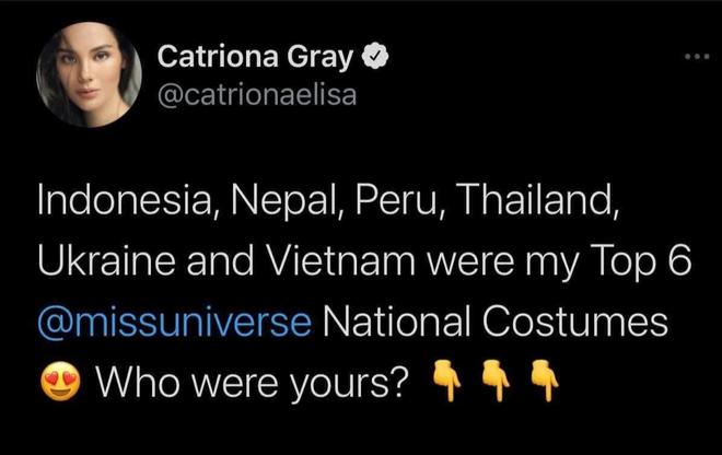 Trình diễn đỉnh cao, Khánh Vân lọt top 6 trang phục dân tộc yêu thích của Miss Universe 2018 Catriona Gray - ảnh 4