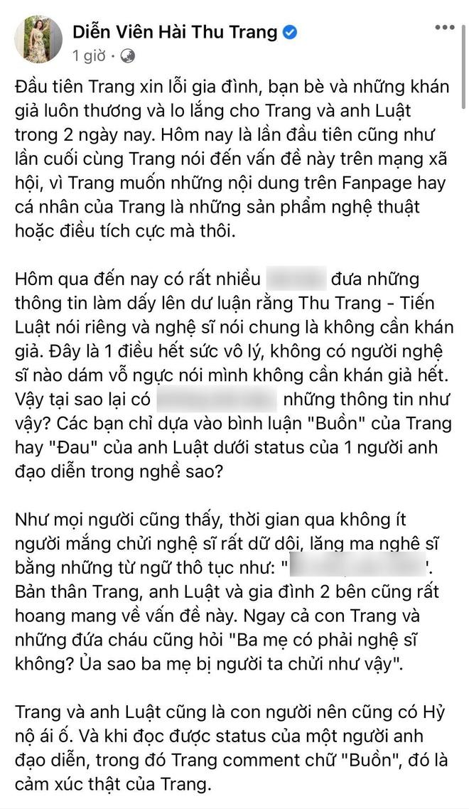 Tranh cãi nảy lửa quan niệm Khán giả nuôi nghệ sĩ: Đạo diễn Quốc Bảo bức xúc, Thu Trang - Tiến Luật bị ném đá vì hiểu lầm - ảnh 3