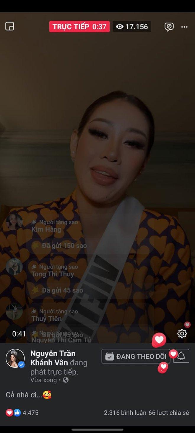 Trước thềm Chung kết Miss Universe, Khánh Vân chứng tỏ sức hút cực khủng, livestream có hơn 130K người xem trực tiếp! - ảnh 3