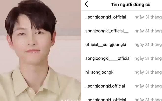 Song Joong Ki ơi, chơi Instagram mà sao khổ thế anh? Đổi tên tới 50 lần ư? - Ảnh 1.
