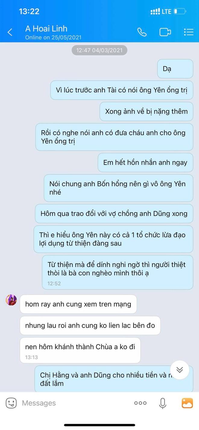 HOT: Hé lộ tin nhắn của NS Hoài Linh làm rõ quan hệ với ông Võ Hoàng Yên và thái độ khi bị vợ chồng bà Phương Hằng tố - Ảnh 4.