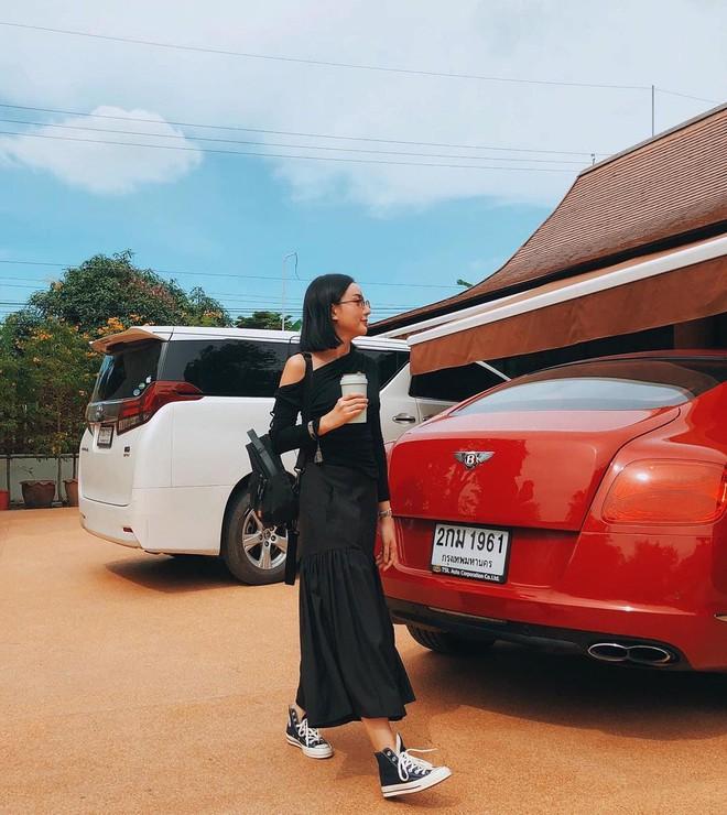 Gái đẹp lấy đại gia Thái Lan lại khoe chồng chiều, nhưng lần này dàn xe sang lấp ló mới là thứ giật spotlight - ảnh 4