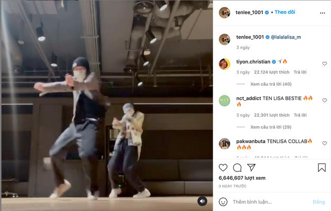 Nhờ clip nhảy đôi với Lisa (BLACKPINK) mà Instagram của Ten (NCT) tăng trưởng đột biến, cộng đồng mạng thán phục: đúng là hiệu ứng Lisa! - ảnh 1