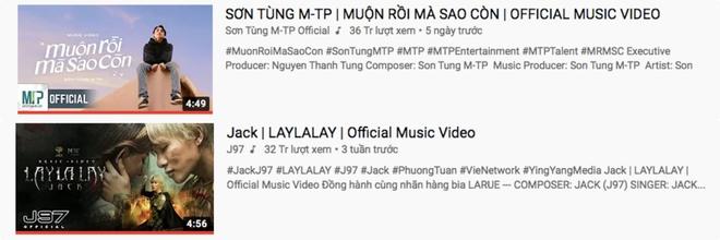 Sơn Tùng mới ra MV 5 ngày đã vượt luôn thành tích view của Jack trong 3 tuần - ảnh 2