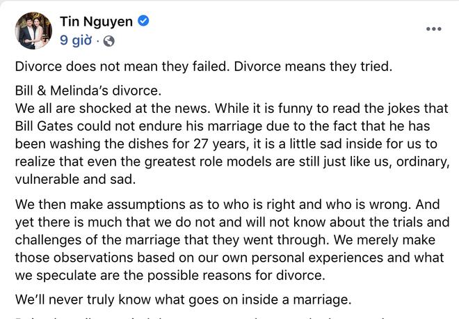 Chồng đại gia của Hoa hậu Đặng Thu Thảo bất ngờ chia sẻ: Ly hôn không phải thất bại, mà cả hai đã cùng cố gắng - ảnh 2