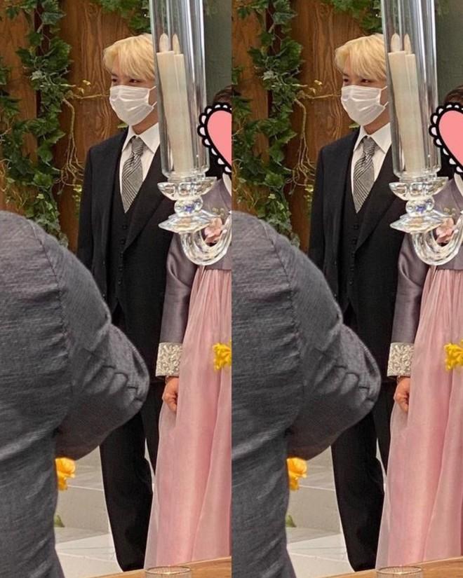 Đám cưới chị gái J-Hope: Dàn khách mời BTS visual đỉnh cao, riêng thành viên giàu nhất nhóm nhuộm tóc mới gây sốt - ảnh 5