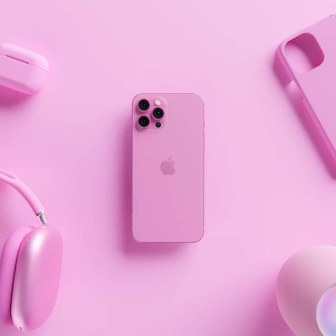 Lộ diện concept iPhone 13 màu hồng sẽ được ra mắt vào năm nay - Ảnh 2.